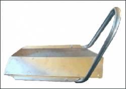 Bodenplatte mit Motorrad Haltebügel - Bild vergrößern
