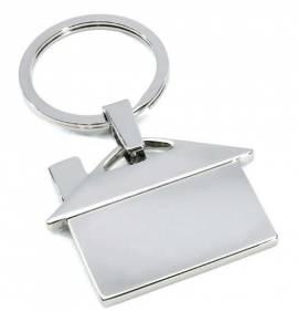 Metall-Schlüsselanhänger Haus im Geschenkkarton - Bild vergrößern