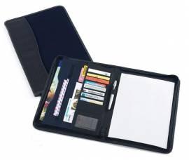 Dokumentenmappe schwarz/blau Schreibmappe Konferenzmappe - Bild vergrößern