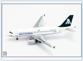 AC148 Airbus A319 MEXICANA, N750MX, Aeroclassics 1:400, NEU 12/17  - Bild vergrößern