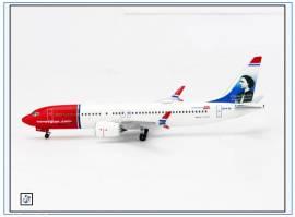 !AC419356 Boeing 737-Max-8 NORWEGIAN -Clara Barton-, Aeroclassic 1:400,NEU 8/18 - Bild vergrößern