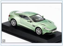AMV001 Aston Martin Vanquish Coupe, grün-metallic,2001, Oxford 1:43, NEU - Bild vergrößern