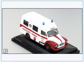!BED007 Bedford J1 Ambulance Dundalk Fire Service, 1950, Oxford 1:76, NEU - Bild vergrößern