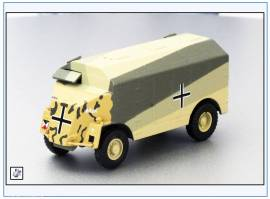 !DOR004 AEC 4x4 ACV -Dorcester-,Deutsches Afrika Korps -Max-, HQ GFM Rommel, Oxford 1:76, NEU 7/2017 - Bild vergrößern