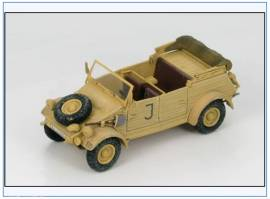 HG1202 VW Typ82 Kübelwagen sPzAbt 501 Tunesien 1943, Hobbymaster Maßstab 1:48 - Bild vergrößern