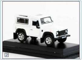 !LRDF011 Land Rover Defender 90, weiß, Oxford 1:76, NEU - Bild vergrößern
