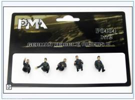 PMA0404 Deutsche Fahrzeugbesatzung (Set B),Wehrmacht 2.WK,PMA 1:72,NEU  - Bild vergrößern
