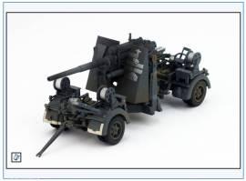 PMA0310  8,8 cm Flak 37, Ausführung 1942, grau, Metallfertigmodell PMA 1:72,NEU - Bild vergrößern