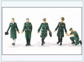 PMA0408 bemalte Figuren: Offiziere, Wehrmacht 2.WK,PMA 1:72,NEU  - Bild vergrößern
