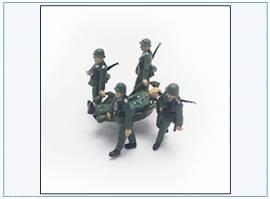 PMA0409 bemalte Figuren: Verletzter & Träger, Wehrmacht 2.WK,PMA 1:72,NEU  - Bild vergrößern