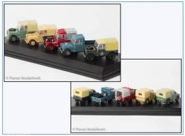 Set17C Land Rover Series I Set, 5 Fahrzeuge,Oxford 1:72,NEU - Bild vergrößern