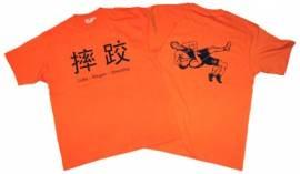 Ringer T-Shirt in vier Sprachen, orange - Bild vergrößern