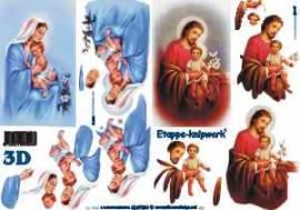 3D Etappen-Bogen-Jesus-Maria mit Kind 4169384 - Bild vergr��ern