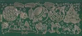 Zier-Sticker-Bogen-Weihnachtsmotive-gr�n/gold-W 0190grg - Bild vergr��ern