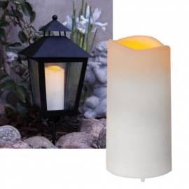Mini LED-Kerze Outdoor -SERENE- Dämmerungssensor + Timer für Laterne Außen - Bild vergrößern