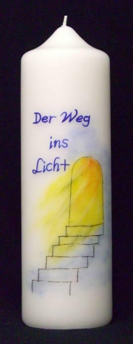 Trauerkerze -Der Weg ins Licht-, Handarbeit, 30x8cm - Bild vergrößern
