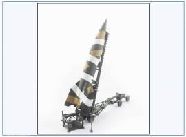 PMA323 V2-Rakete auf Meillerwagen&Starttisch,Tarnfarben, PMA 1:72,NEU&