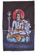 Wandbehang Shiva Nandi - BATIK - Handarbeit aus Nepal