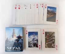 Spielkarten - 52 Blatt - Picuture of Nepal