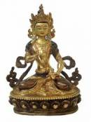 BUDDHA Vajrasattva - feuervergoldet - ORIGINAL aus NEPAL