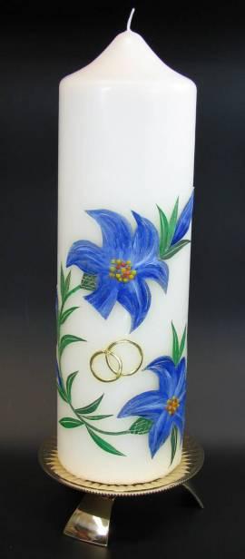 Hochzeitskerze Lilie, Handarbeit, 26,5x8cm - Bild vergrößern