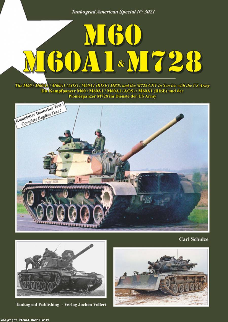 TANKOGRAD 3021 M60 M60A1 and M728 THE M60 / M60A1 / M60A1 (AOS) / M60A1 (RISE) / M