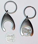 Einkaufswagen-Ringer-Chip-Schlüsselanhänger
