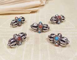 Tibet PERLE - DORJE Vajra - Sterling Silber - Nepal