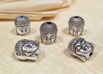 Buddha Kopf - Perle - 5 Stück - Charms - Nepal