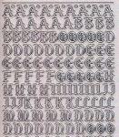 Glitter-Sticker-Bogen-Alphabet-ABC-Gothic 2-transparent-silber-1155gtrs