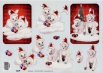 3D Bogen-weihnachtliche Eisb�ren mit Glimmer-TBZ-579301