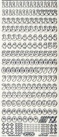 Glitter-Sticker-Bogen-Zahlen-transparent/silber-815gtrs