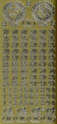 Zier-Sticker-Bogen-Jubil�um-Zahlen-gold-9930g