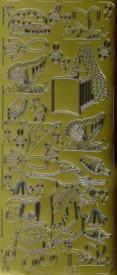 Zier-Sticker-Bogen-S�sse Baby-Motive 3-gold-3022g