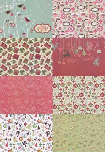 kartenpapier karton tkk 07 weihnachtliche muster motive. Black Bedroom Furniture Sets. Home Design Ideas