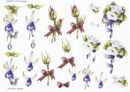 3D Etappen-Bogen-Blumen rosa-lila-blau-Wekabo-732