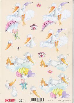 3d etappen bogen baby storch auf wolke pickup 018. Black Bedroom Furniture Sets. Home Design Ideas