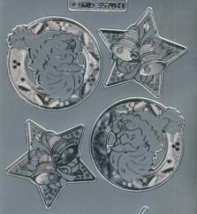 Zier-Sticker-Bogen-Weihnachtsmotive-Nikolaus-silber-W-MD7041s