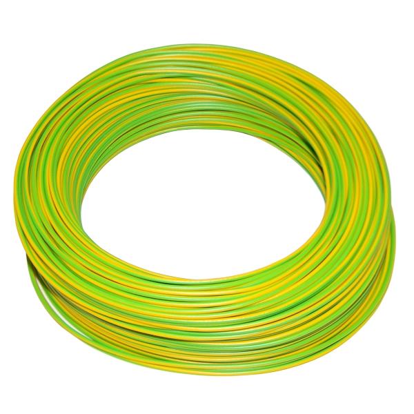100 meter bund kabel 1 0mm gelb gr n im karton. Black Bedroom Furniture Sets. Home Design Ideas