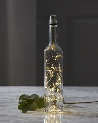 korken led lichterkette dewdrops silber 15 led 75cm timer flaschen beleuchtung flaschendokoration. Black Bedroom Furniture Sets. Home Design Ideas