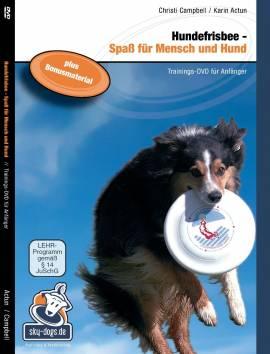 Hundefrisbee Trainings-DVD für Anfänger + zwei -Dog Activity Disc`s-