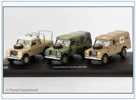 713PND Land Rover Series III LWB Military 3 Fahrzeuge,Oxford Cararama 1:72,NEU - Bild vergrößern