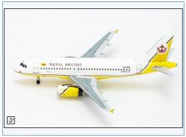 AC149 Airbus A319 ROYAL BRUNEI, V8-RBP, Aeroclassics 1:400, NEU 12/17  - Bild vergrößern