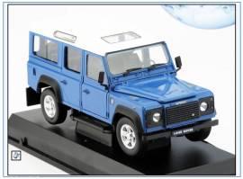 !Land Rover Defender 110 Van, blau, Oxford 1:24, NEU 11/18 - Bild vergrößern