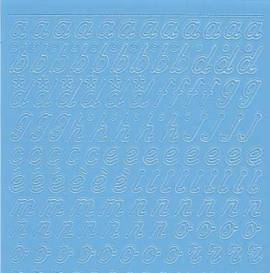 Zier-Sticker-Bogen-0825hbl-Alphabet-abc-Schreibschrift 2  - Bild vergrößern