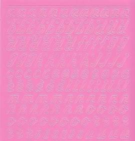 Zier-Sticker-Bogen-0825ro-Alphabet-abc-Schreibschrift 2  - Bild vergrößern