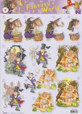 3D Etappen-Bogen-Fantasy World-Hexe / Vampir / Waldgeist - StudioLight-FW 04 - Bild vergrößern