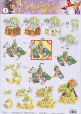 3D Etappen-Bogen-Fantasy World-Drachen - Ritter - StudioLight-FW 08 - Bild vergrößern