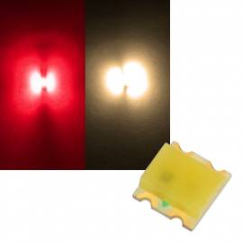 SMD Leds 0605 rot-warmweiß Typ S0605SRWWO - Bild vergrößern