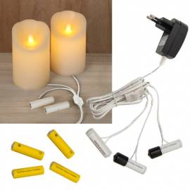 Batterieadapter AA oder AAA 230V Betrieb für LED-Kerzen & Batterieartikel - Bild vergrößern